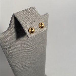Half gold earring balls